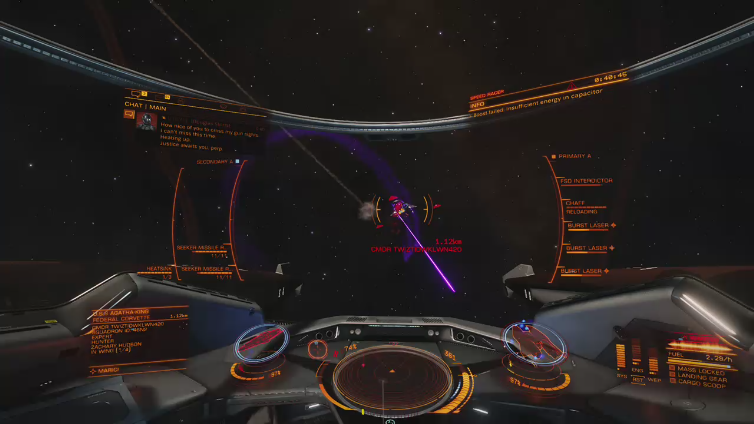 The Cage 88 playing Elite: Dangerous