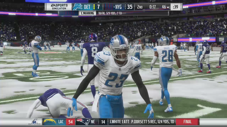 Rebound Mousey playing Madden NFL 19
